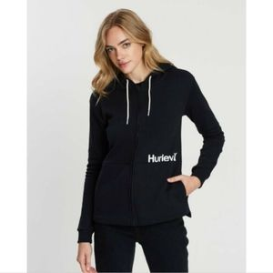 Hurley One & Only Cut Fleece Full Zip Hoodie